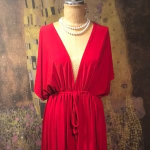 Dresses & Skirts - Racy Red Midi Dress by The Sisters Size 3X